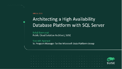 Architecting a High Availability Database Platform with SQL