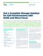 Get a Complete Storage Solution for SAP Environments with SUSE