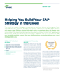 Helping You Build Your SAP Strategy in the Cloud