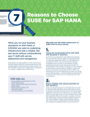7 Reasons to Choose SUSE for SAP HANA