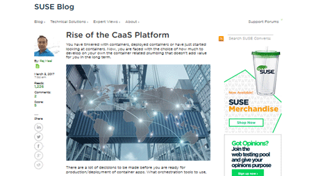 SUSE Blog: Rise of the CaaS Platform