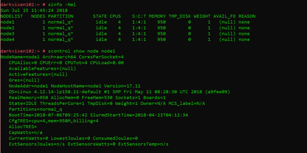 SLURM node info