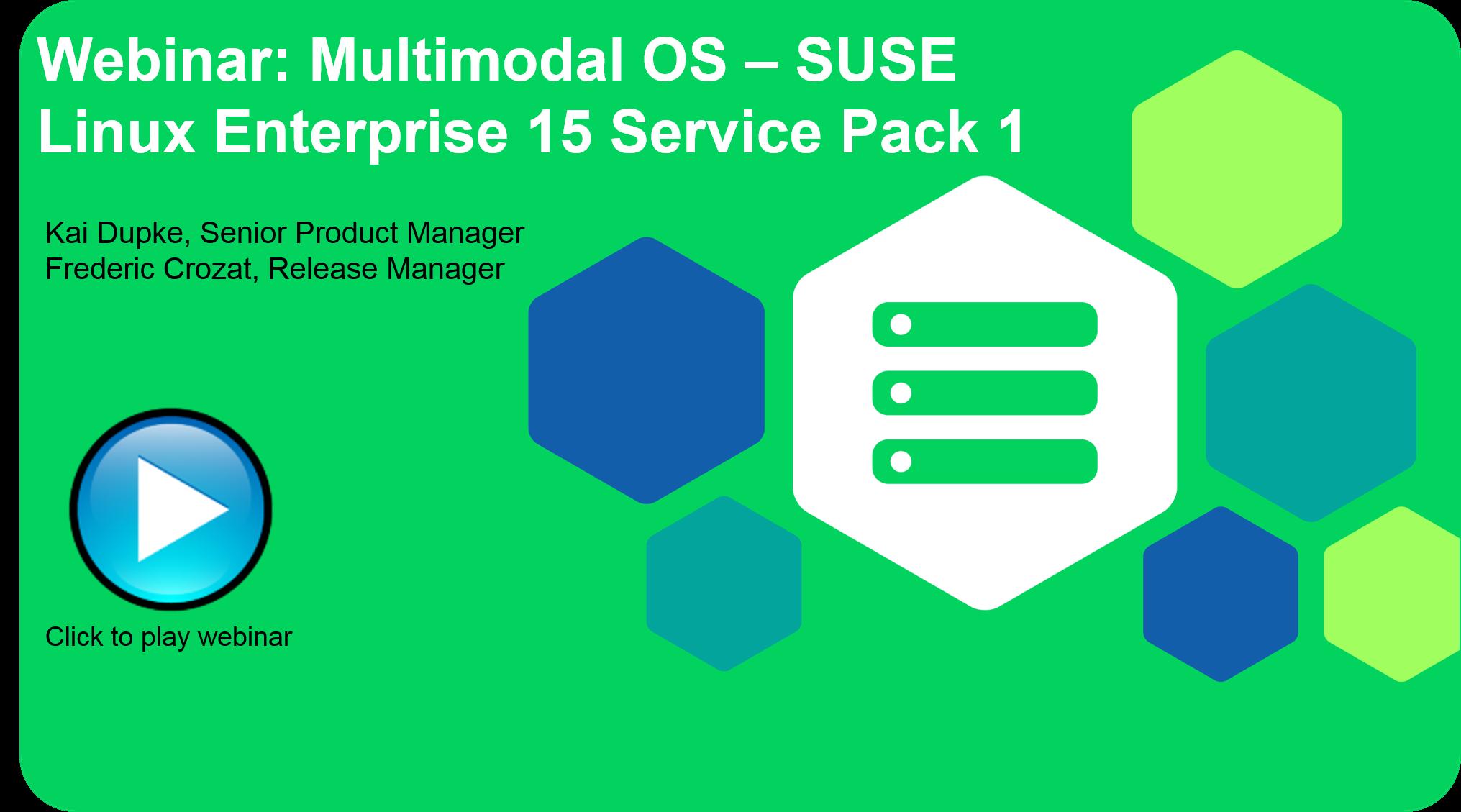 SUSE Webinar - Multimodal OS