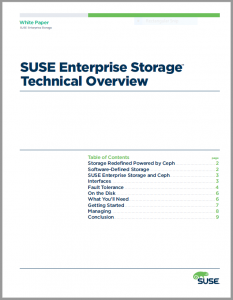 SUSE Enterprise Storage Technical Overview whitepaper