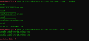 Syntax for using PDSH over SSH
