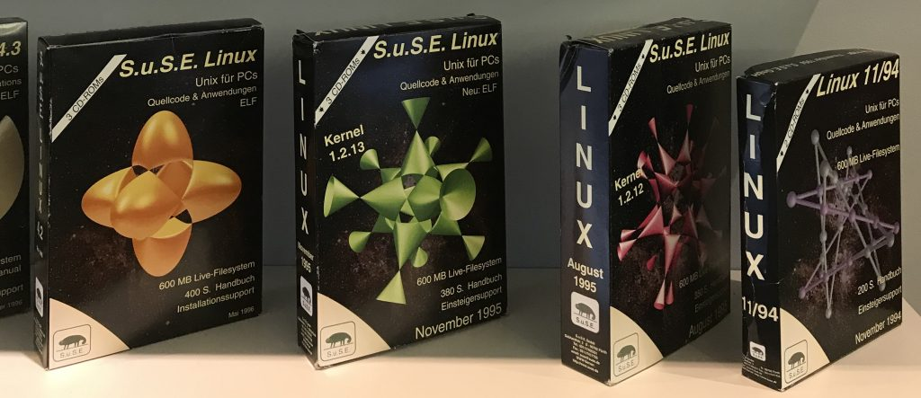 First SUSE boxes