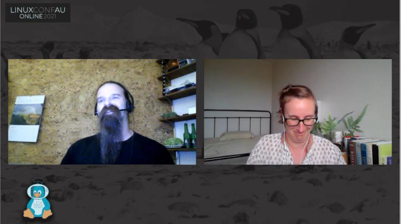 Screenshot from Tim's linux.conf.au 2021 talk