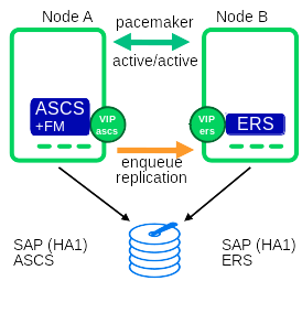 ASE FM is integrated in the ASCS instance